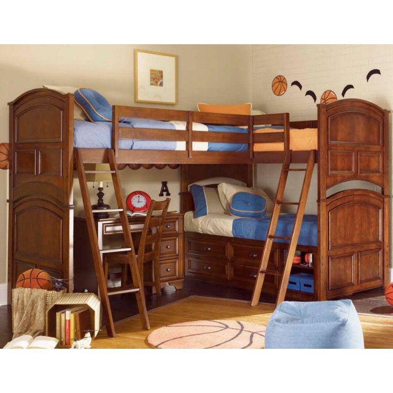 Diy Triple Bunk Beds Ideas Double Loft Beds Bunk Beds Corner