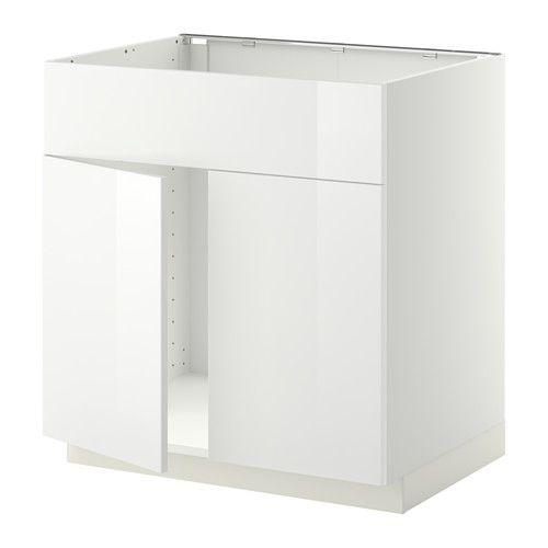 Metod Base cabinets, High gloss and Sinks - ikea küchen türen