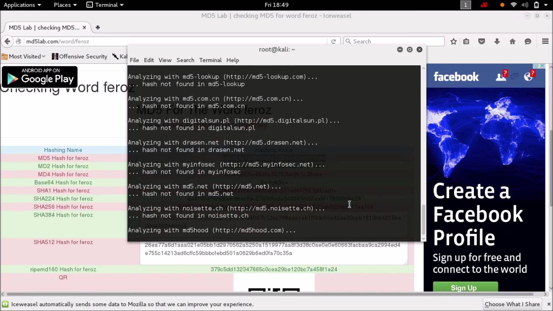 How to decrypt the MD5 or any hash value in Kali Linux | MD5 hash