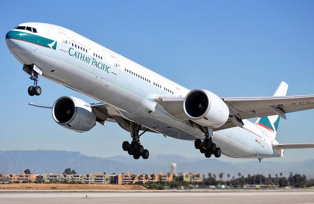 Airside with Cathay Pacific Boeing 777-300ER. My ...