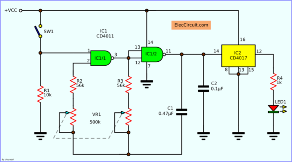 Based Time Crystal Clock Generator Circuit Eleccircuit Com Circuit Digital Circuit Electronics Projects