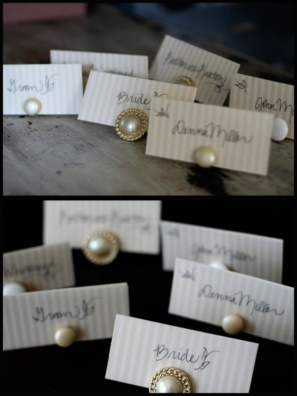 This Time I Am Going To Show You How Make Place Card Holders Using Clip On Earrings Supplies An Ortment Of Small Wooden