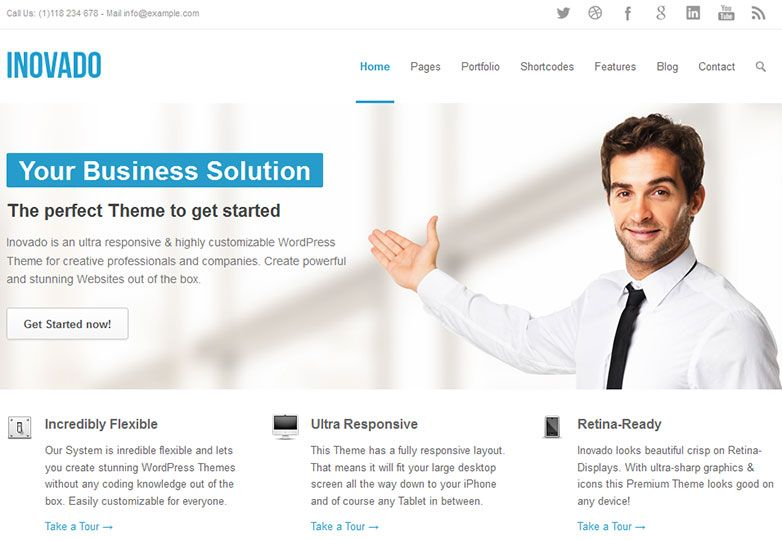 30 fresh wordpress business themes wordpress pinterest 30 fresh wordpress business themes photo wajeb Choice Image