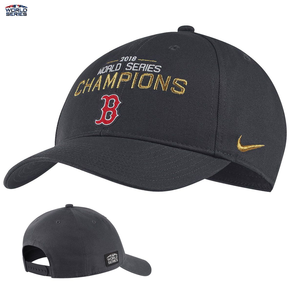 new style ab9f2 2a7bf Boston Red Sox 2018 World Series Champions Nike Adjustable ...
