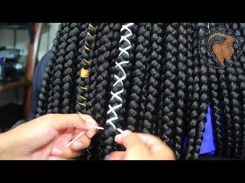 How To Rubber Band Method Box Braid Tutorial Tanieya