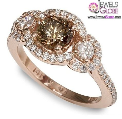 Chocolate Colored Diamond Rings RingsCladdagh