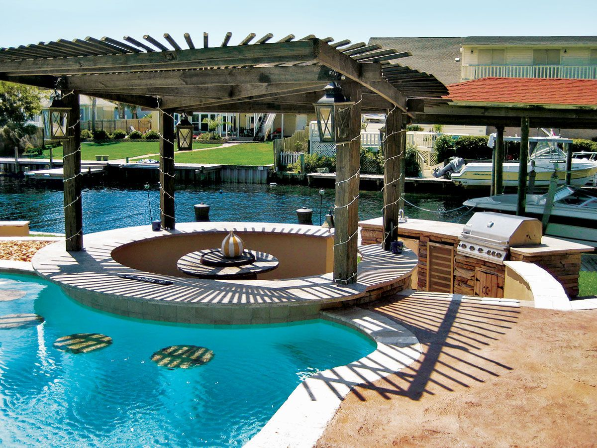 Pictures Of Inground Pools In Design Galleries Blue Haven Swimming Pools Backyard Pool Houses Backyard Pool