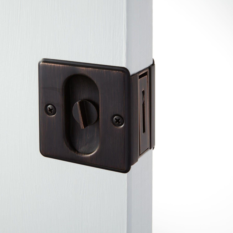 French Pocket Door Lock