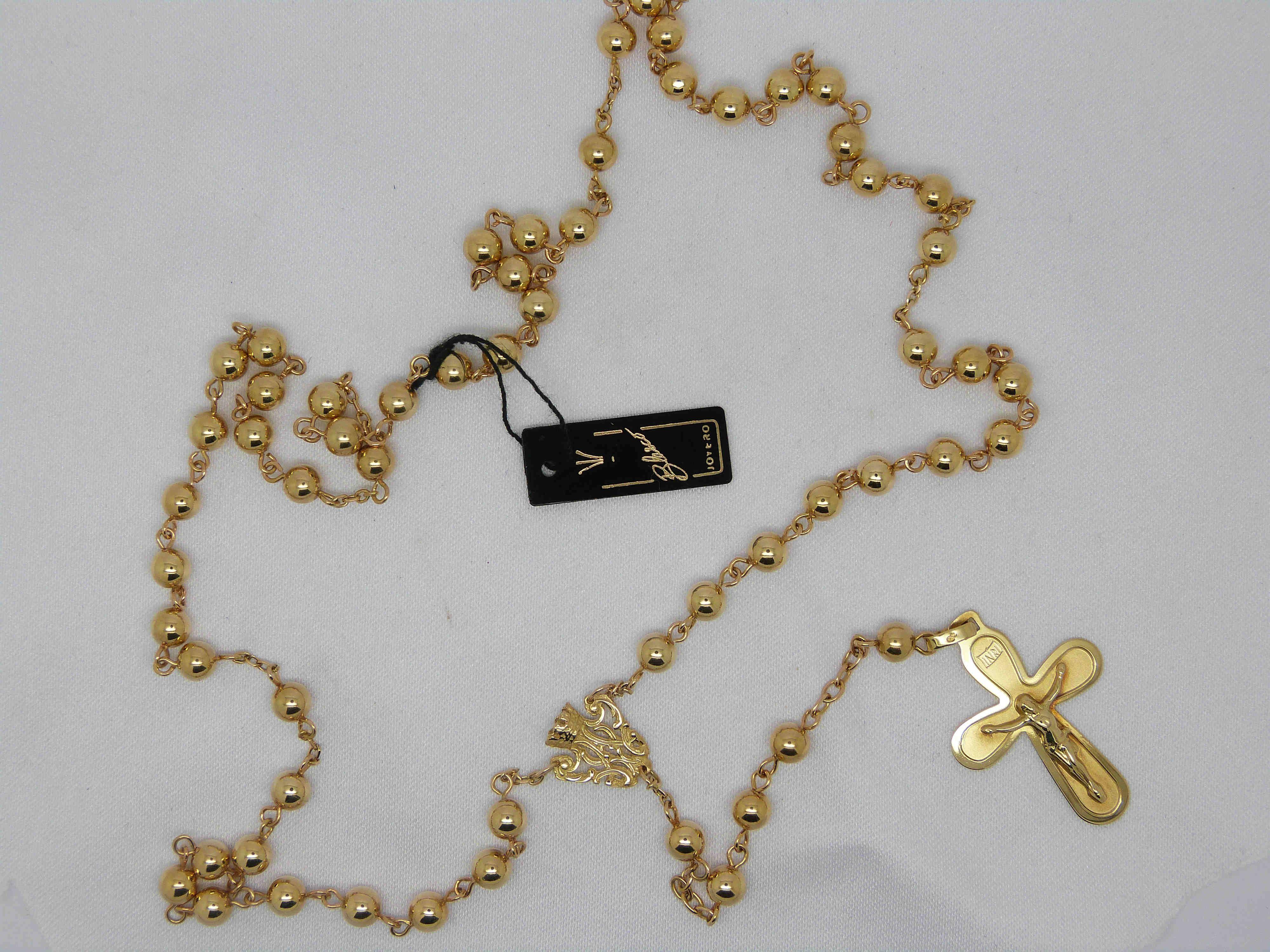1bb0d1735a33 Rosario de lujo de oro amarillo de 18 kilates  rosarios ...