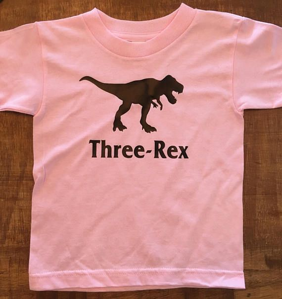 Turning 3 Dinosaur Birthday Party ThreeRex Toddler TShirt