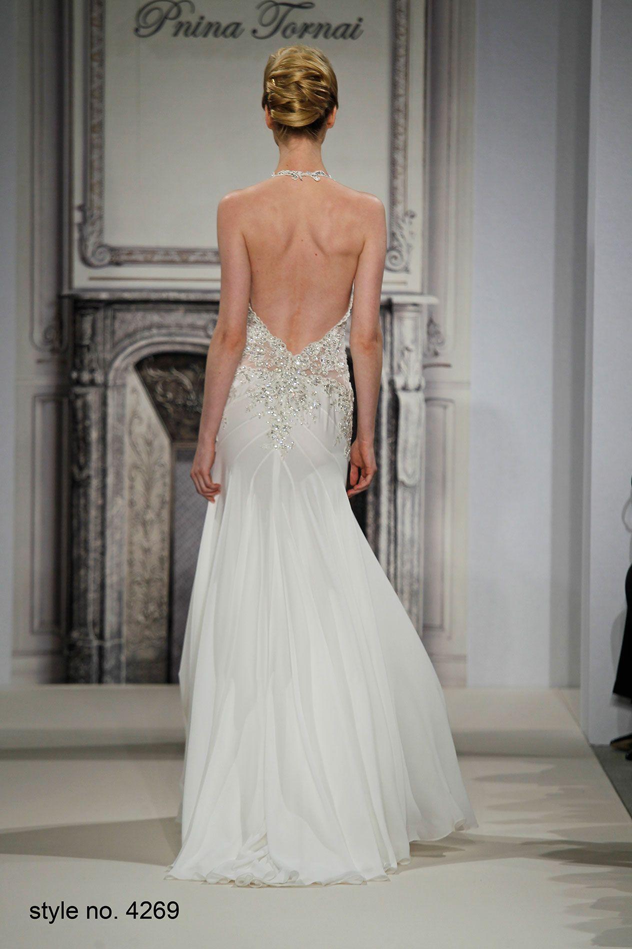 Pnina Tornai Style 4269 Back Pninatornai Pnina Crystals Wedding