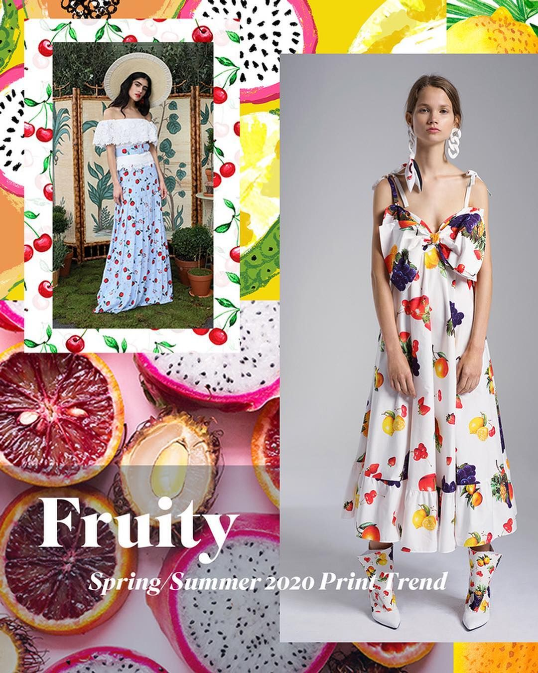 New Spring/Summer 2020 Print Trend 'Fruity' is now live on