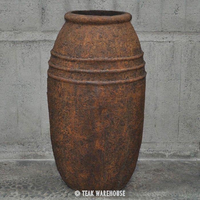 Teak Warehouse | Ranto Tall Urn Concrete Planter