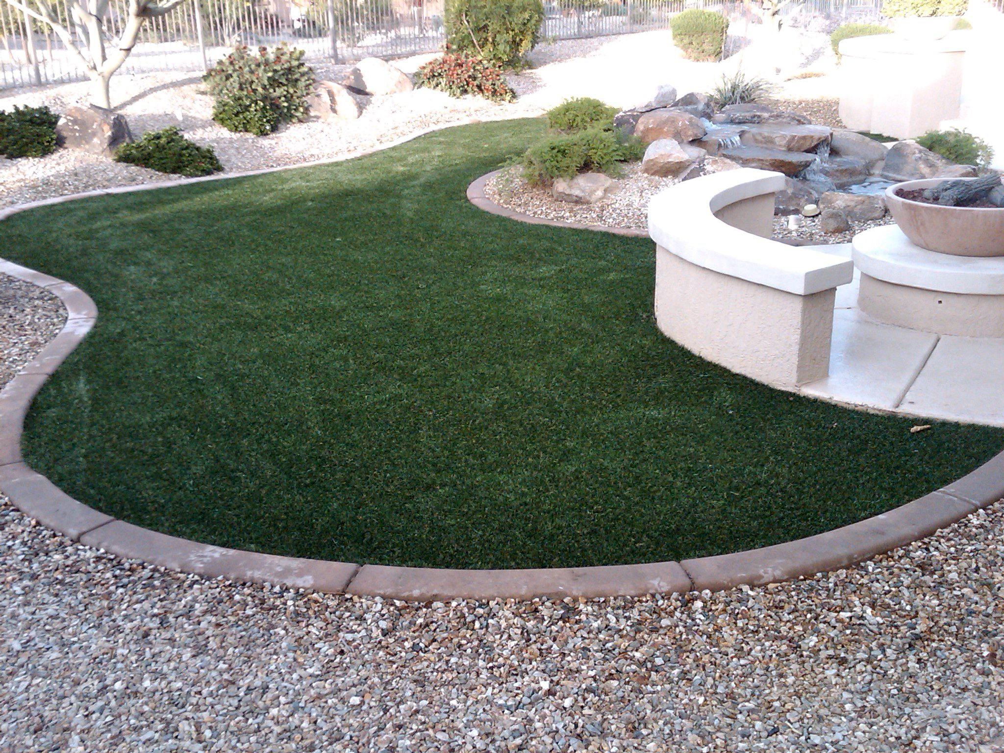 synthetic grass from arizona turf solutions  i like the seating area in the middle