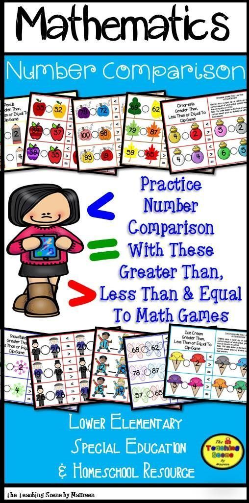 Greater Than Less Than Or Equal To Monthly Holiday Math Games