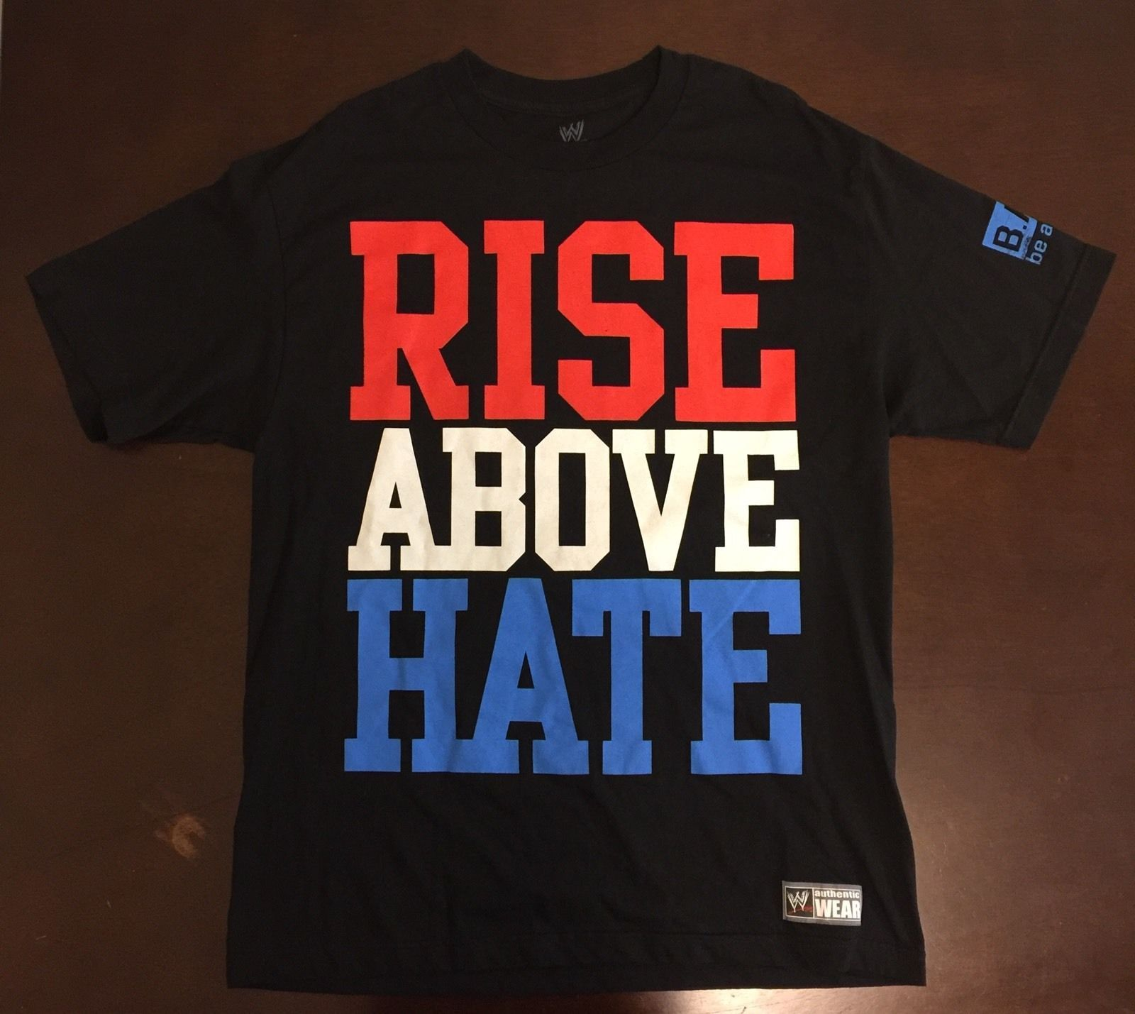 new product c0555 24865 John Cena Rise Above Hate Hustle Loyalty Respect WWE Authentic T Shirt -  http