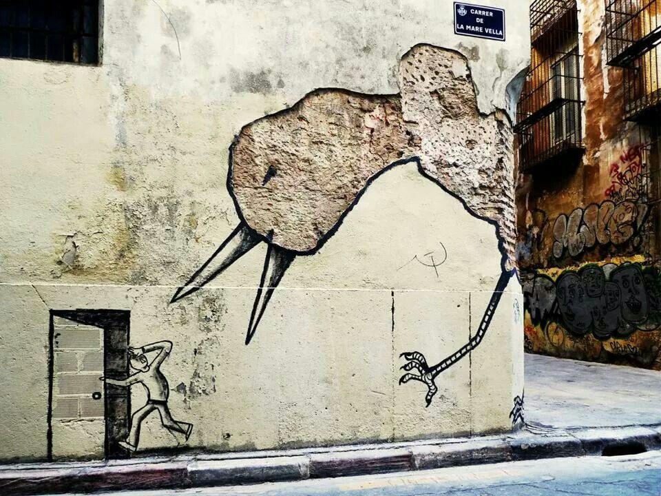 Wall art, spain.