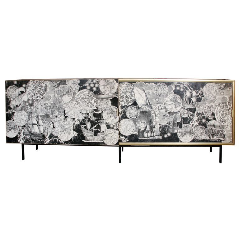 a monumental and unique cabinet by piero fornasetti. Black Bedroom Furniture Sets. Home Design Ideas