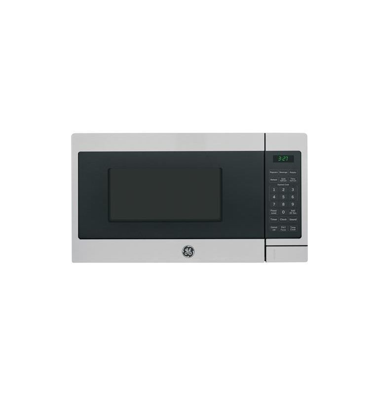Ge Jem3072 17 Inch Wide 0 7 Cu Ft Countertop Microwave With Auto Defrost Stainless Steel Ovens