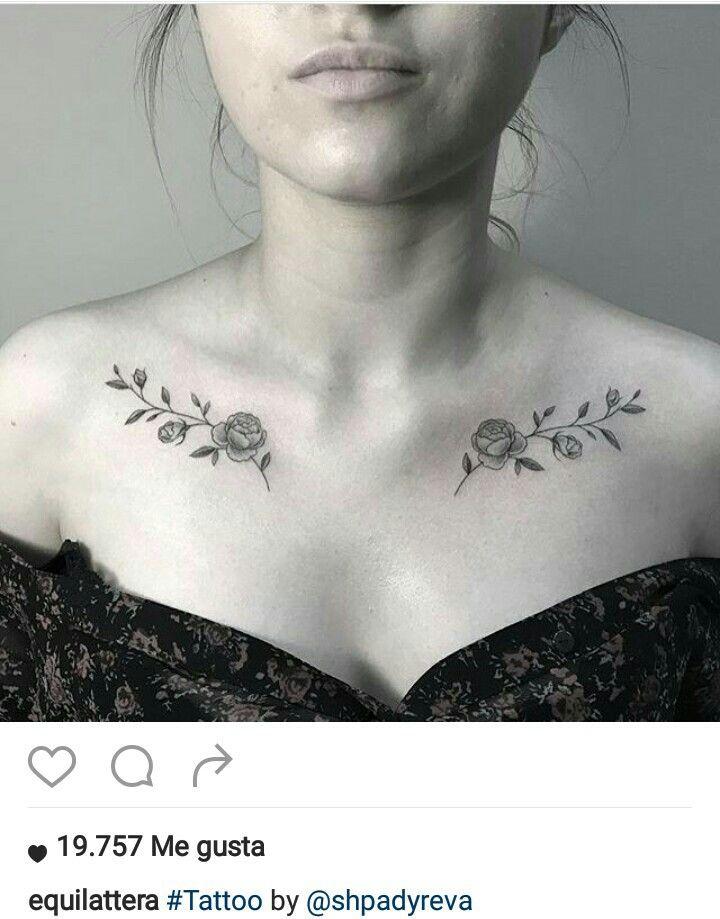 Tattoo Tatoos Tatoeage Ideeën Sleutelbeen Tatoeages En