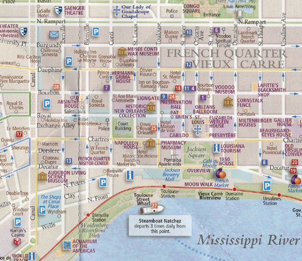 French Quarter Maps New Orleans Map Map Travel Maps
