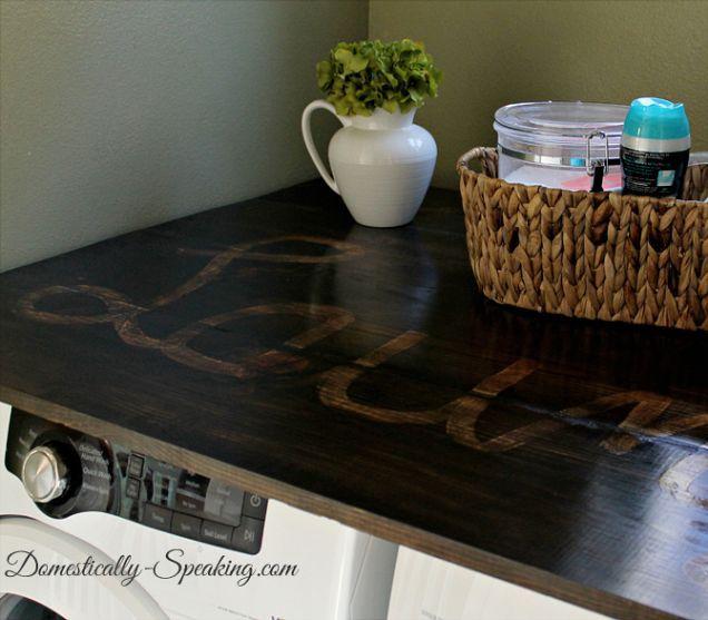 die besten 25 waschk chenplatte ideen auf pinterest hauswirtschaftsraum ideen waschk che und. Black Bedroom Furniture Sets. Home Design Ideas