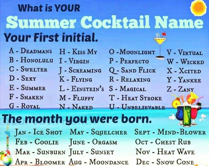 Cocktail name generator