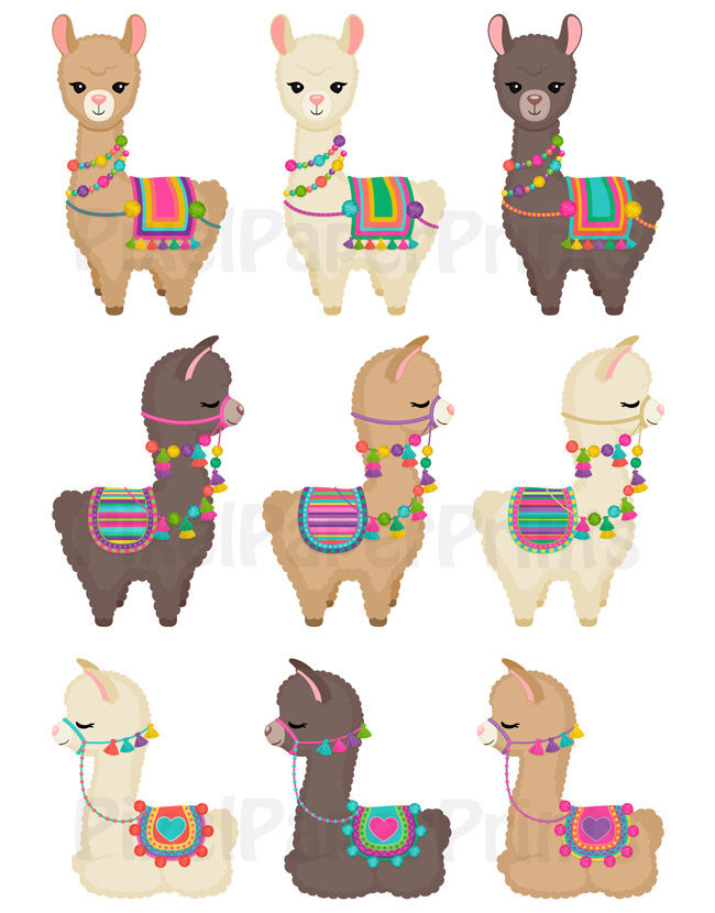 Llama Clipart : llama, clipart, Figurák