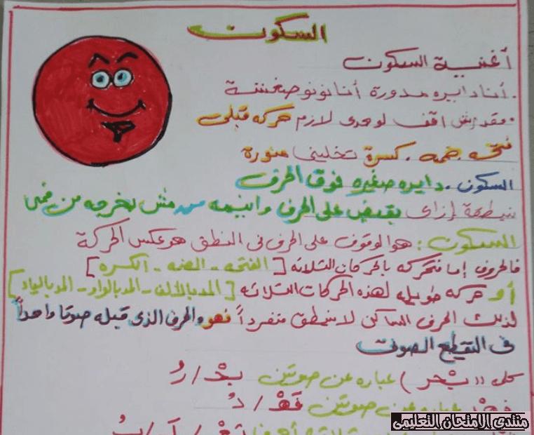 مذكرة اساليب وتراكيب الأول الابتدائي الترم الثاني Arabic Calligraphy