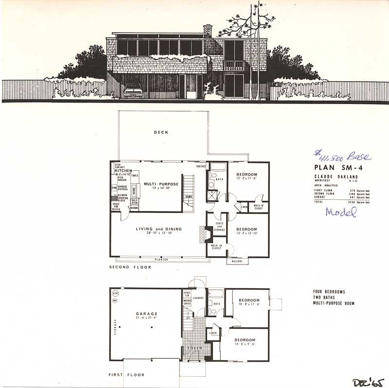 This Eichler brochure was used to promote just nine houses ...