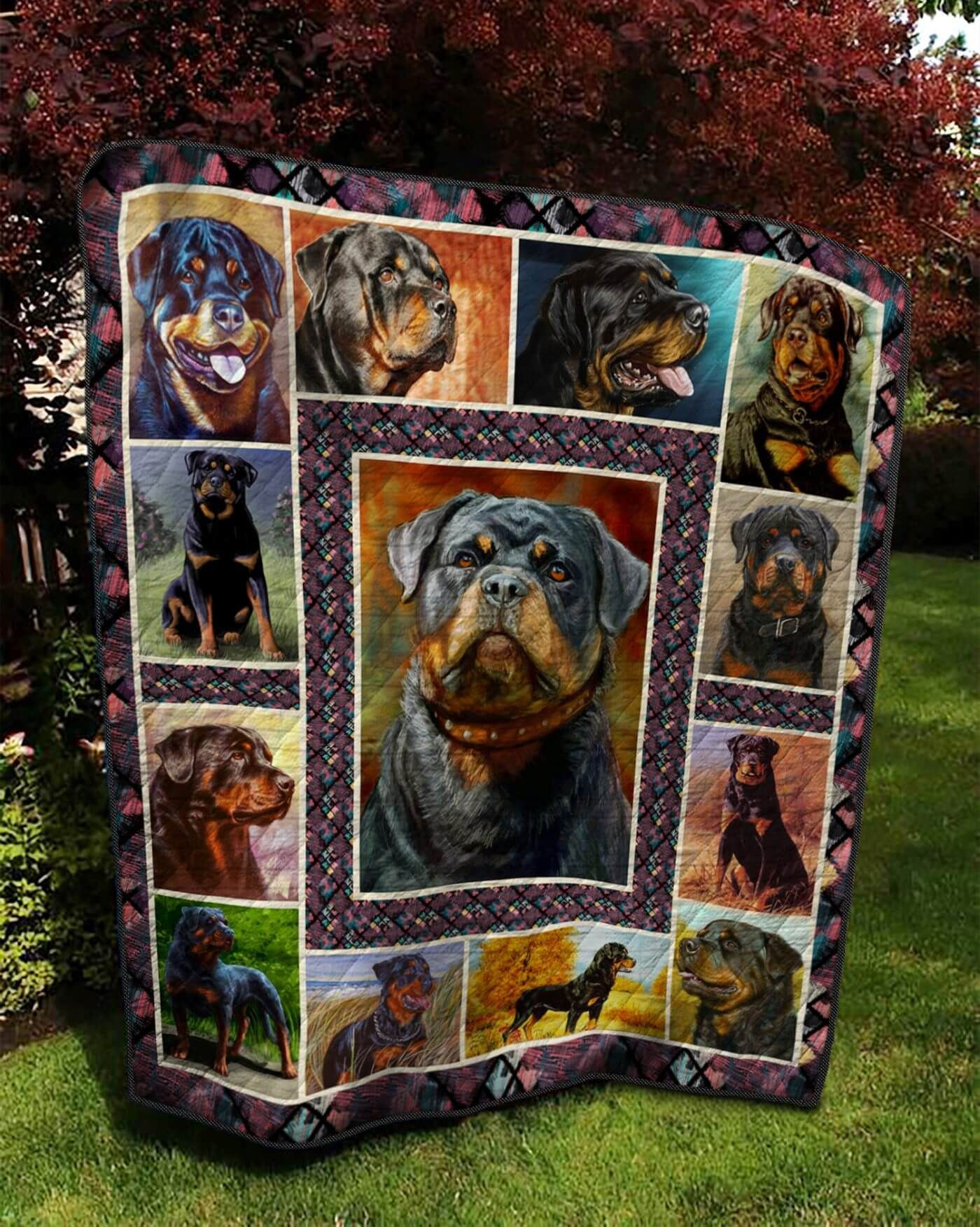 Rottweiler TNT0604 12 Quilt Blanket Rottweiler, Quilt