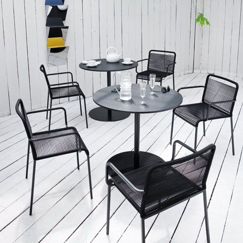 The Aria Dining Chair With Arms Is The Ideal Seat For Outdoor Dining Due To  The