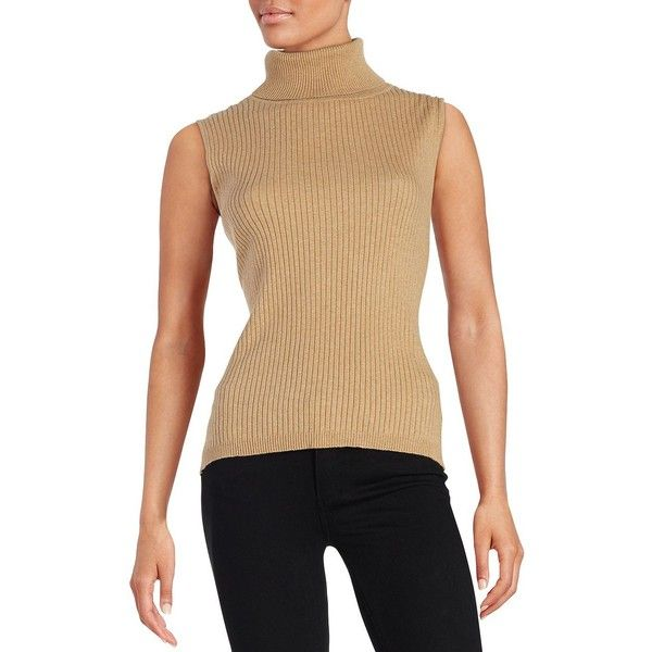 397895ae84d46e Vince Camuto Petite Sleeveless Turtleneck Sweater ( 79) ❤ liked on Polyvore  featuring tops