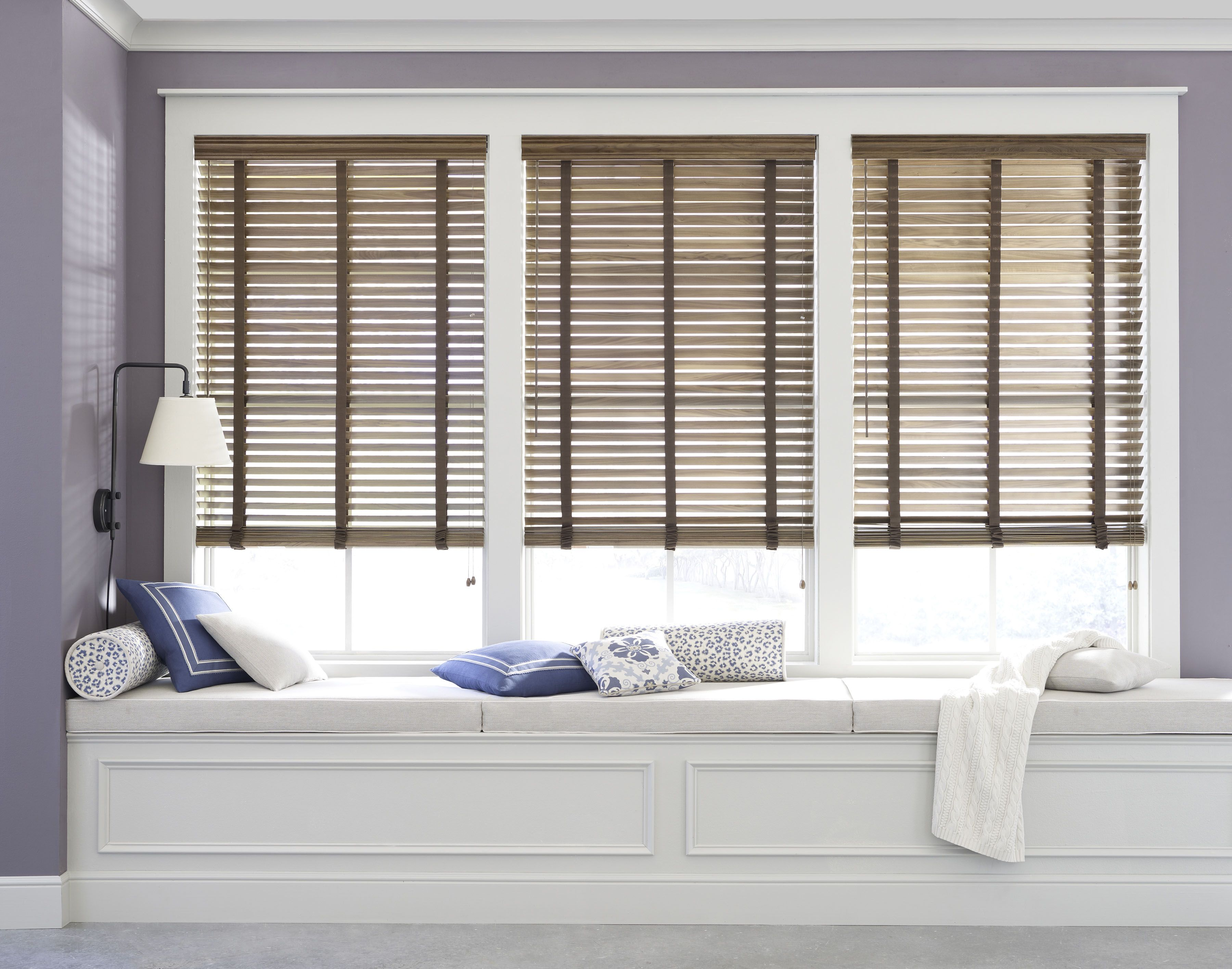 Window treatment ideas for a sunroom  custom window treatments wood blinds  marthaus road marthaus