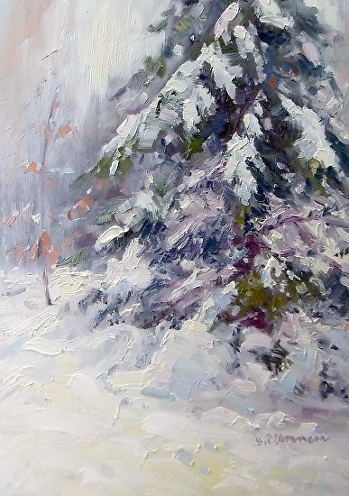 One of my best snow paintings! www.ReneeLammers.com to see ...