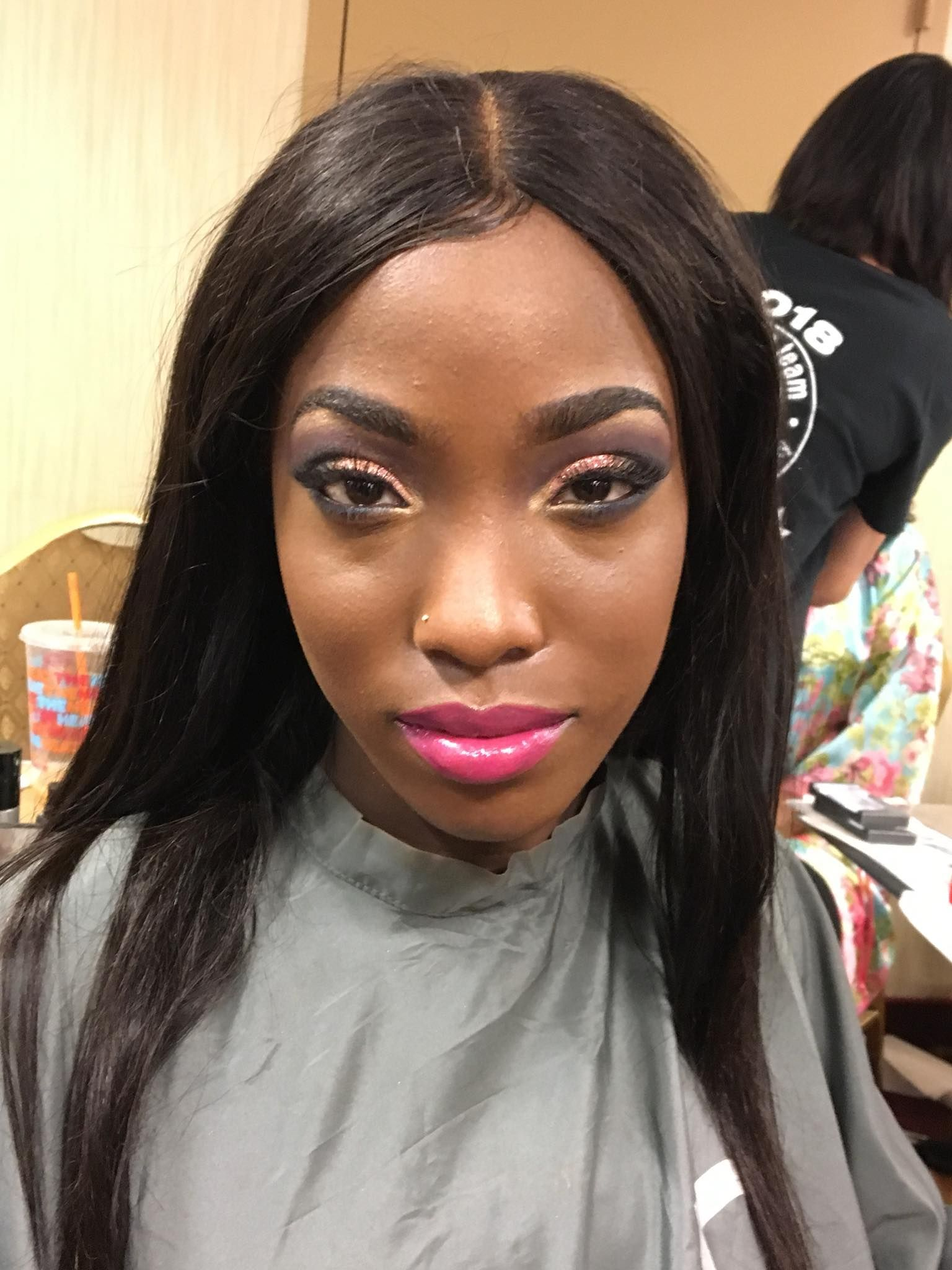 Nyib Make Up Team At Unique Blends Fashion Show Beauty Skin Care Beauty Skin School Makeup