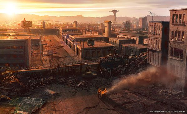 Fallout New Vegas locations concept art Dooms Day
