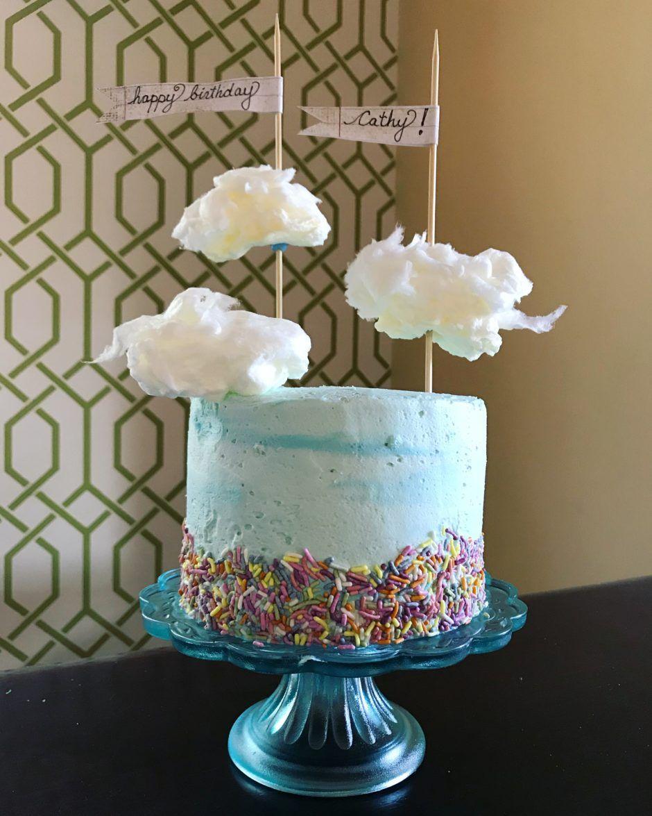 Cotton candy cloud cake bakers brigade cloud cake