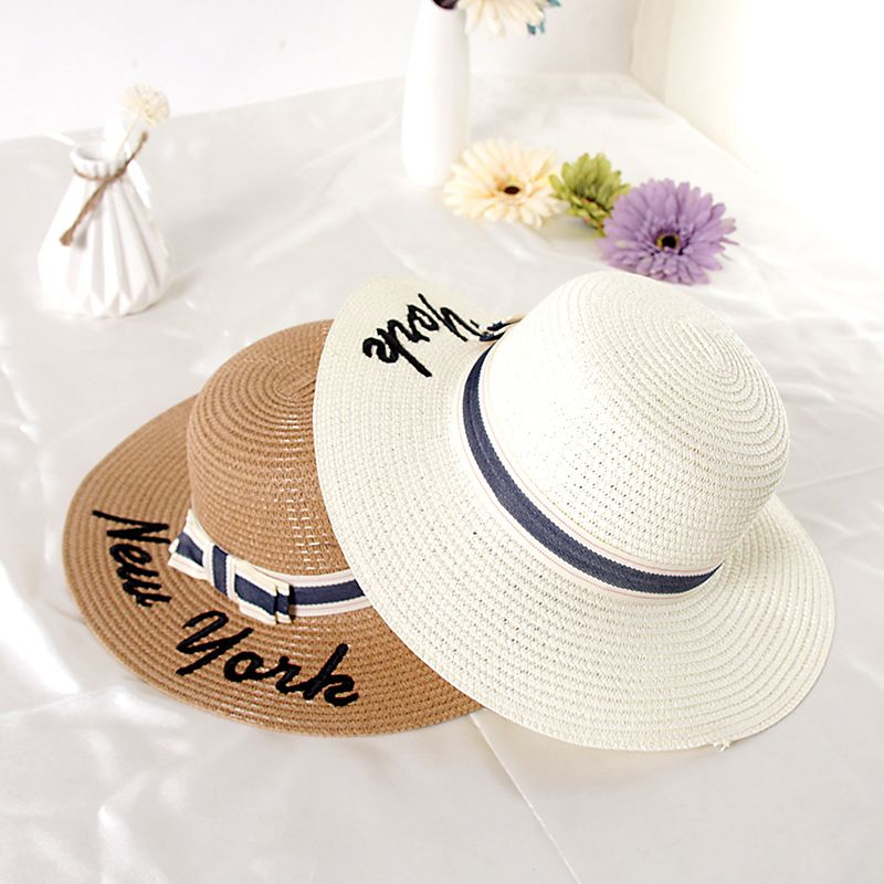 c900647095d 2017 New Summer Women Sun Hat Ladies Wide Brim Straw Hats Outdoor Foldable Beach  Panama Hats