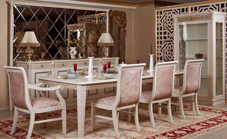 Artemis Klasik Yemek Odasi Yemek Masasi Yemek Masasi Sandalyesi Yatak Odasi Mobilya Takimlari