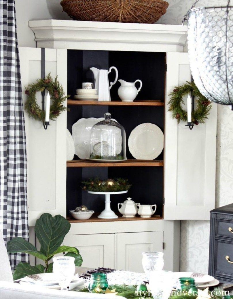 Beautiful farmhouse hutch design ideas to improve your