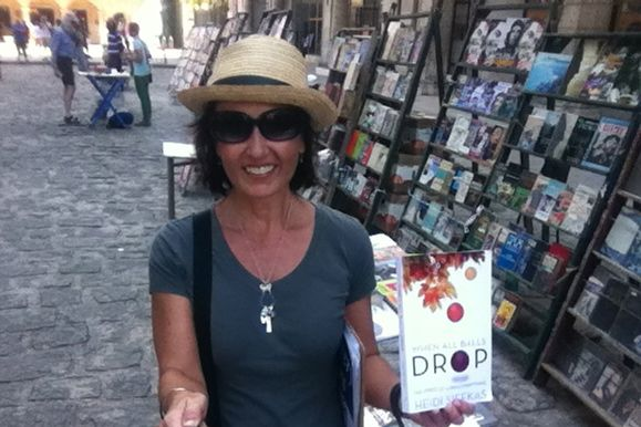 Author of #whenallballsdrop post book signing at Havana's Book Fair in the Plaza de Armas #Cuba. Where are you reading it? http://www.amazon.com/When-All-Balls-Drop-Everything/dp/1627871217 #newbooks #inspiration