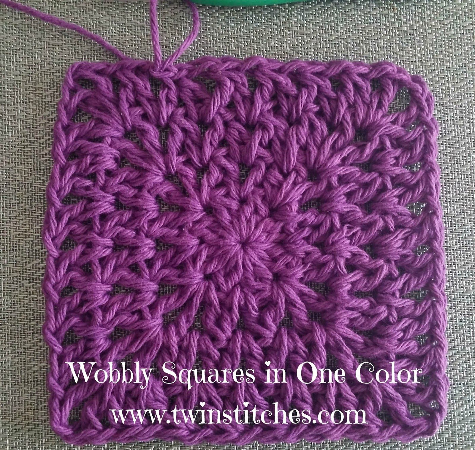 Tw-In Stitches: Wobbly Squares Blanket {without changing colors ...