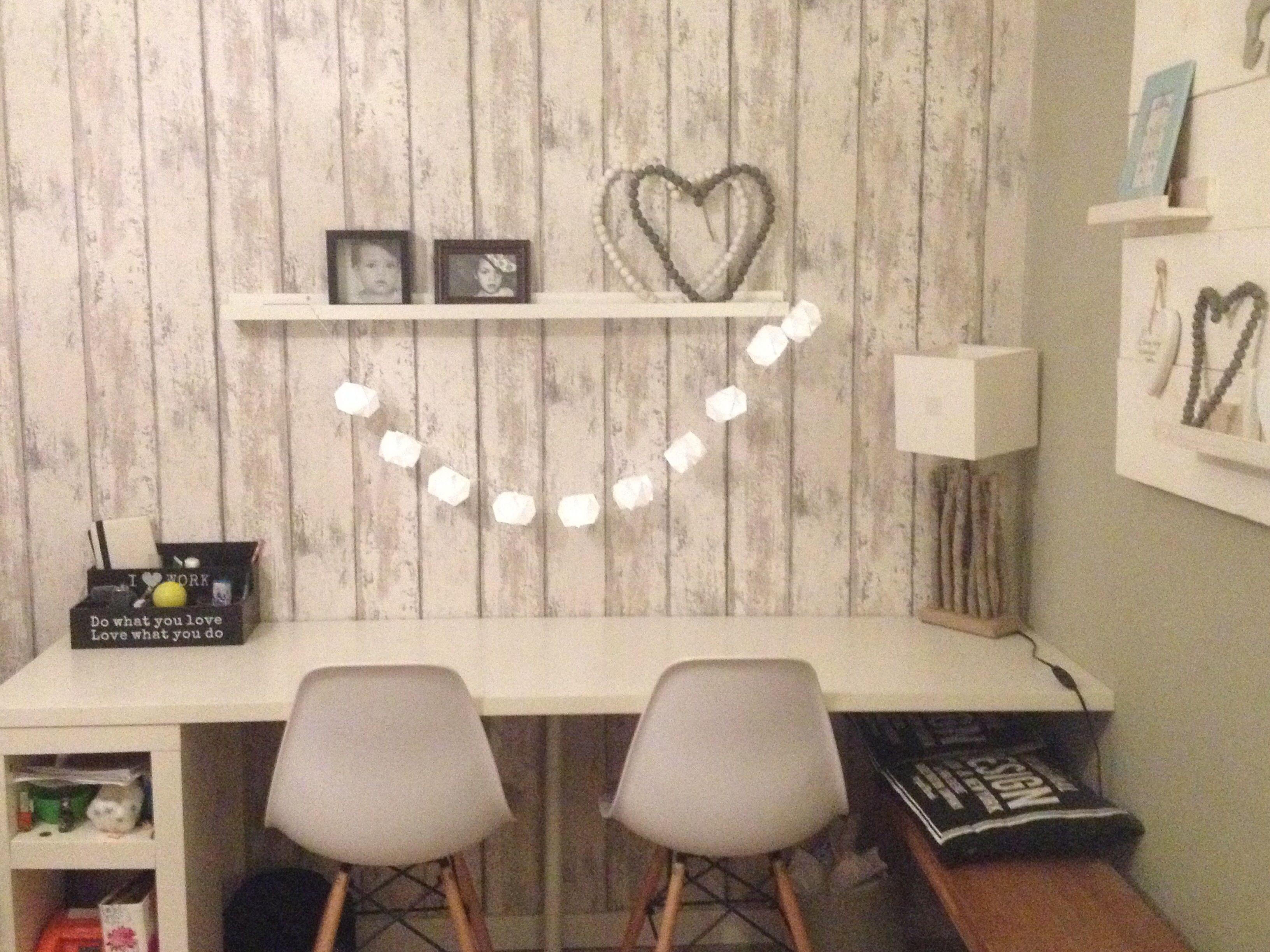 Steigerhout behang kamer joep pinterest slaapkamers for Behang kamer