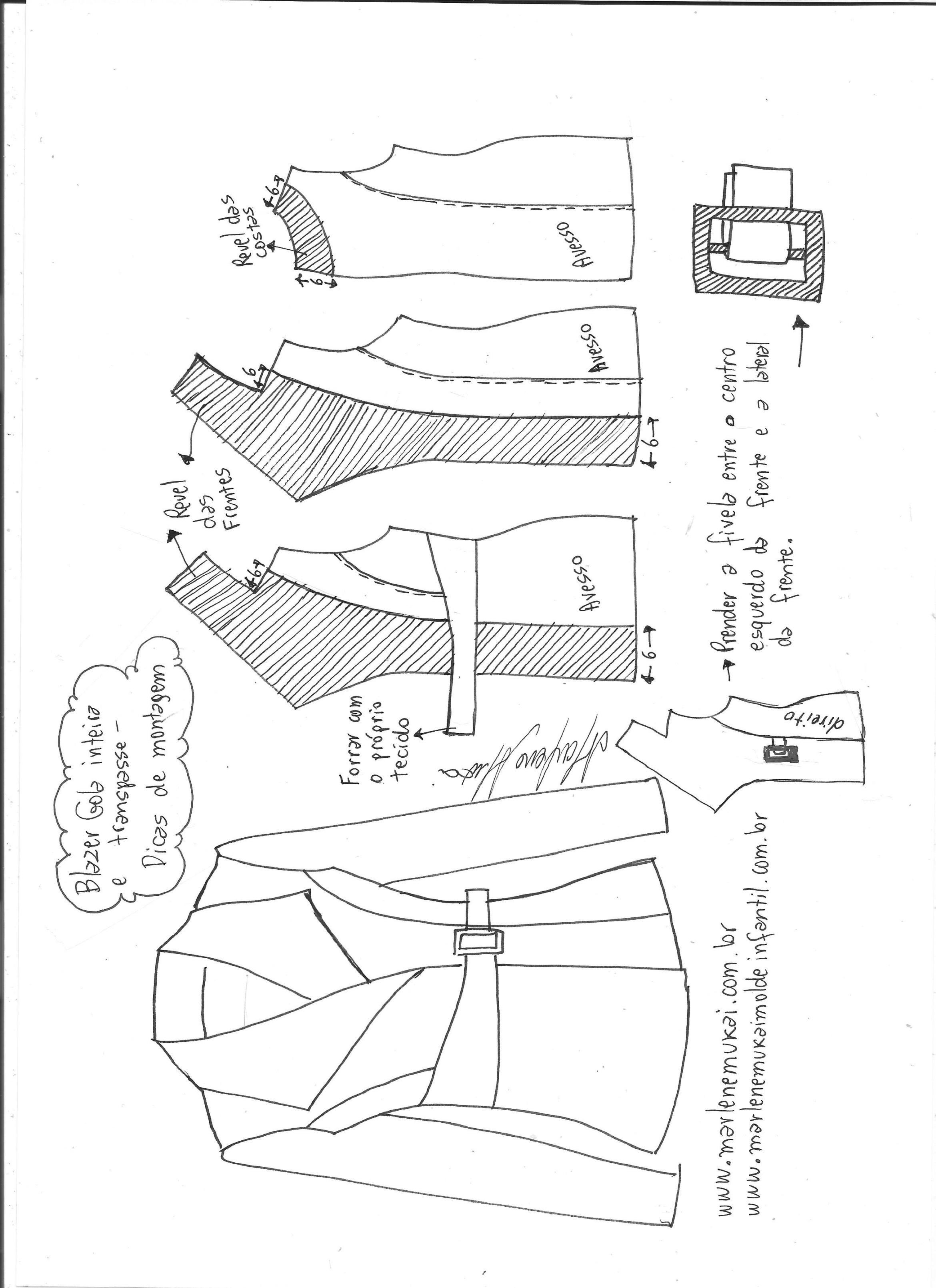 Blazer gola inteira com transpasse | Patrones | Pinterest | Sewing ...