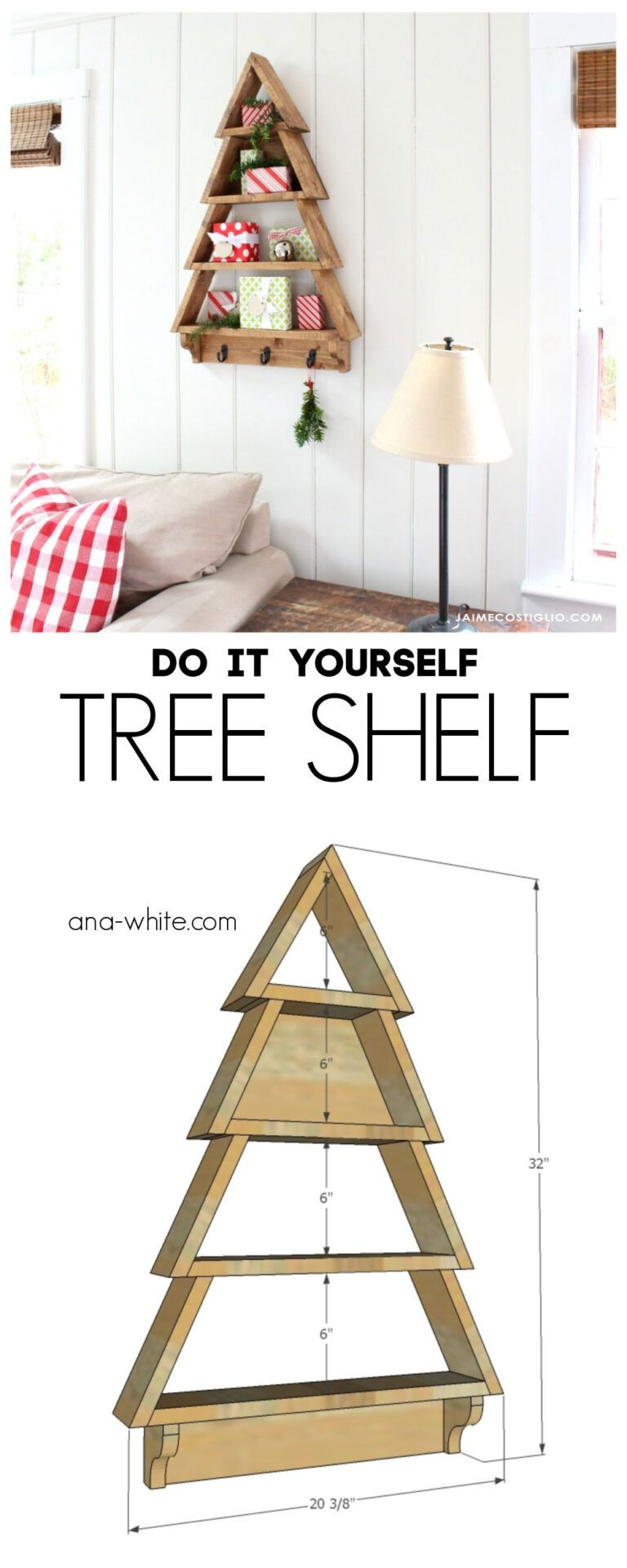 DIY Tree Shelf - Jaime Costiglio