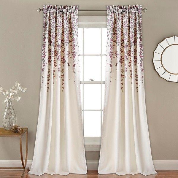Purple weeping flower curtain panel set 84 in 80 liked on purple weeping flower curtain panel set 84 in 80 liked on mightylinksfo