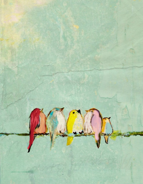 Pastel Birds At Goldhunterbysybaritetumblr