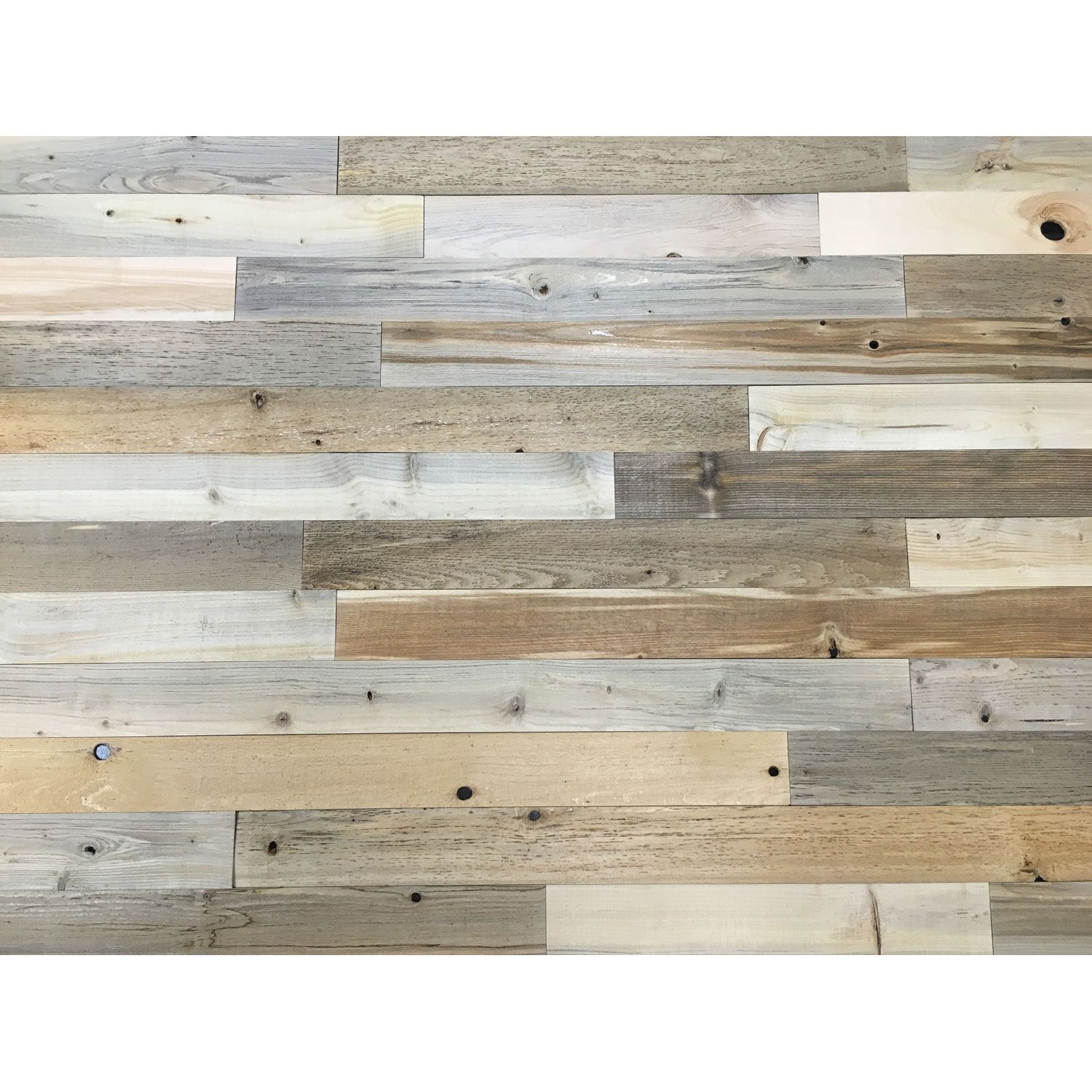 Peel And Stick Reclaimed Natural Wood 3 Inch Planks