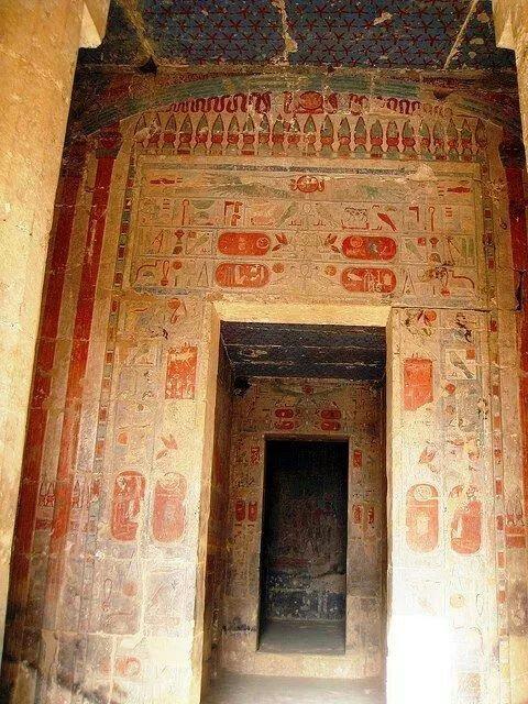 The entrance to the Chapel of Hathor at Hatshehpsut's Mortuary at Der al-Bahri IterArte Roma